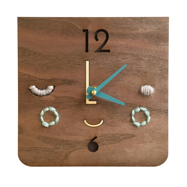 face clock - turquoise