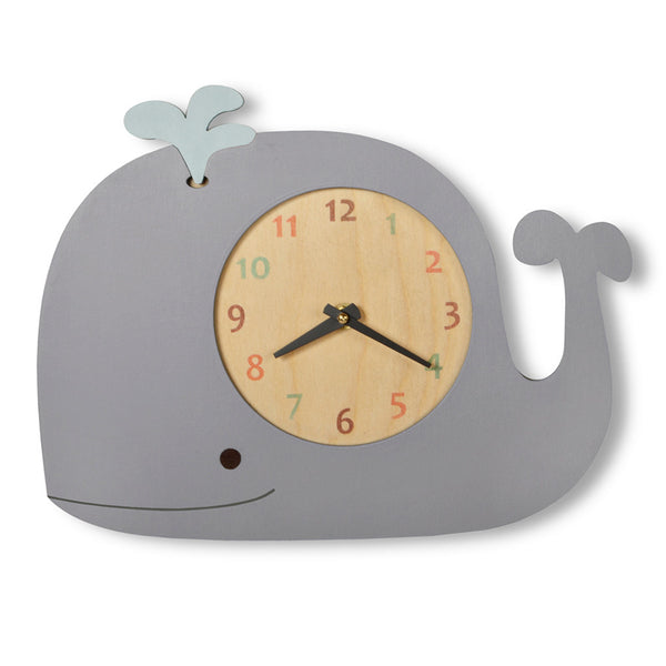 whale clock (3 colors)