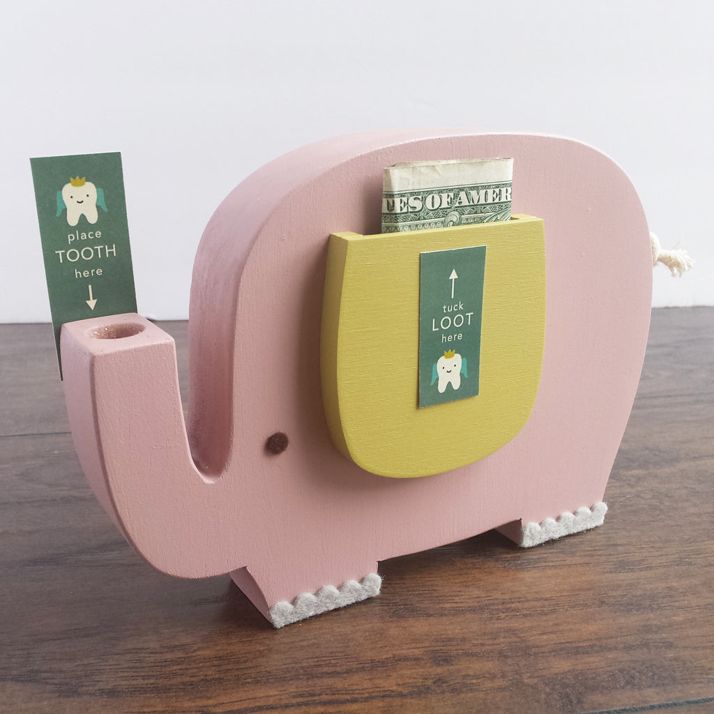 Tree By Kerri Lee Wooden Tooth Box Pink