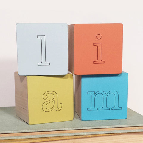 custom letter blocks (9 colors)