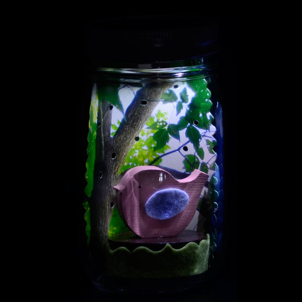 bird mason jar solar light