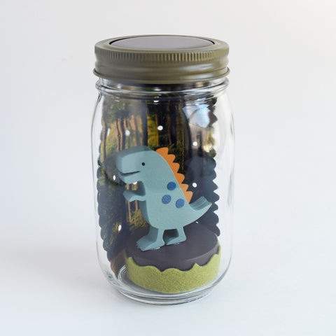 dinosaur mason jar solar light - Tree by Kerri Lee