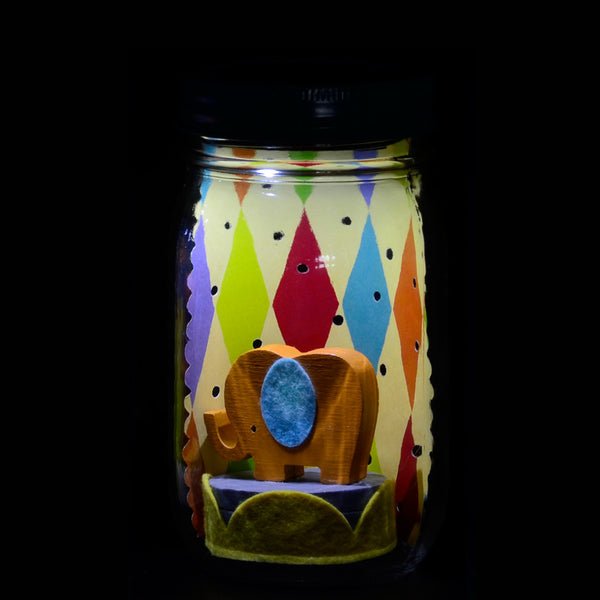 elephant mason jar solar light
