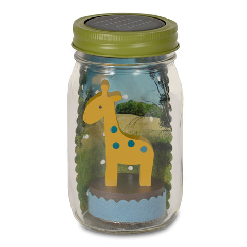 giraffe mason jar solar light