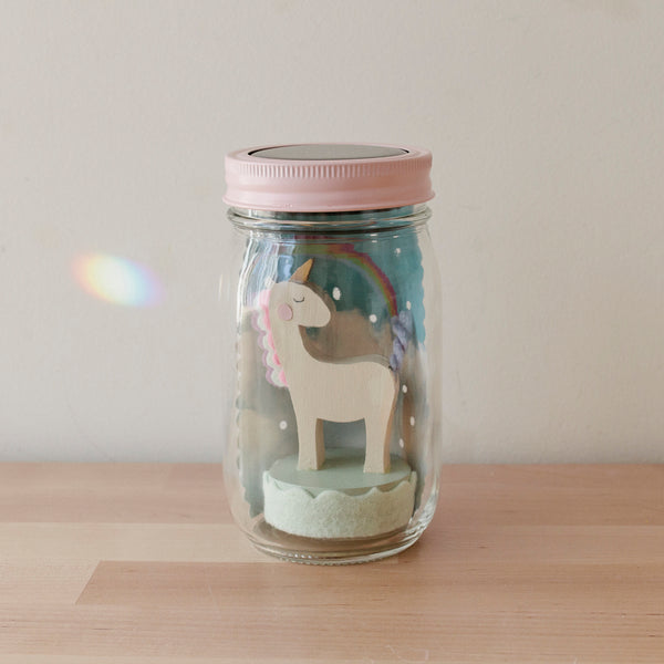 unicorn mason jar solar light - Tree by Kerri Lee