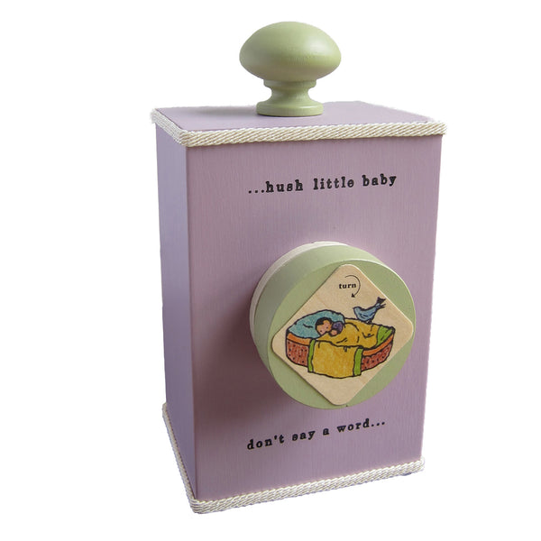 'hush little baby' wind-up music box (2 colors)