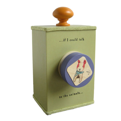 'talk to the animals' wind-up music box