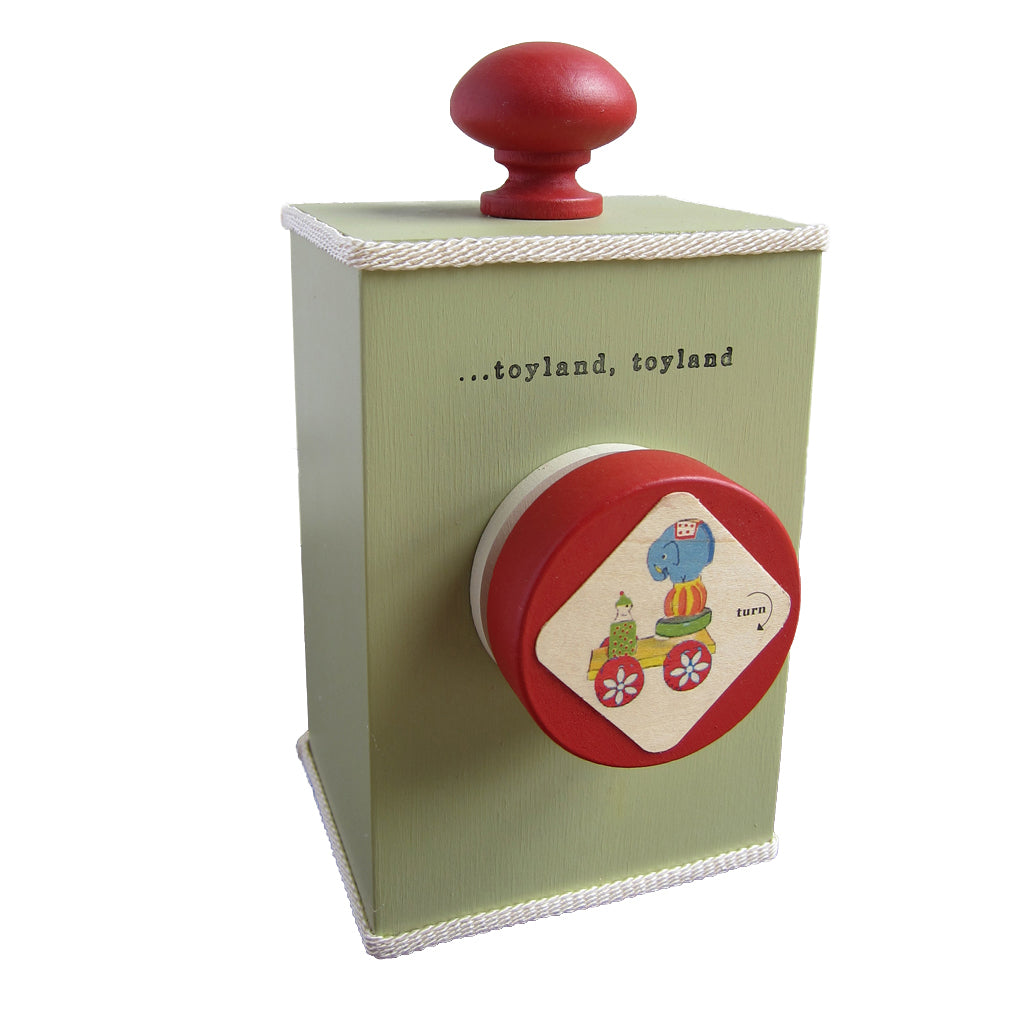 'toy land' wind-up music box