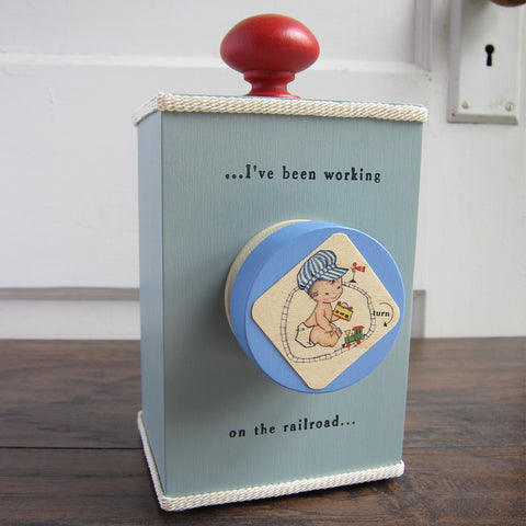 'i've been working on the railroad' wind-up music box