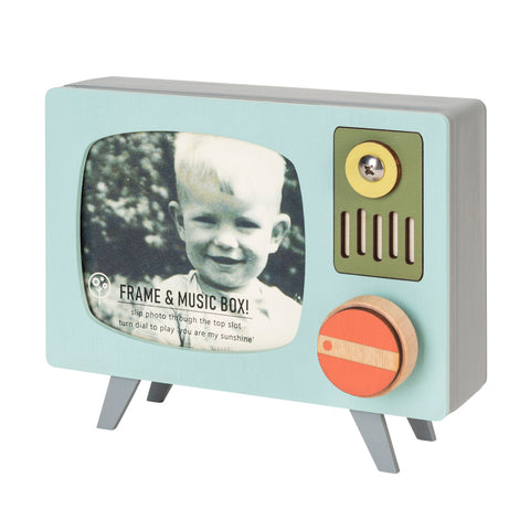 retro tv frame & music box
