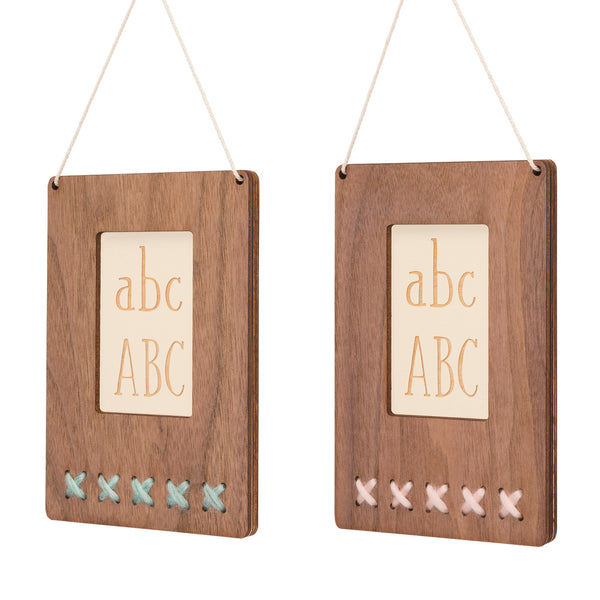 walnut ABC wall art - Tree by Kerri Lee