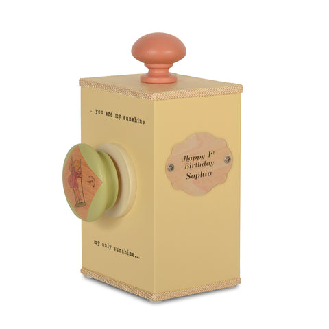 personalized wind-up (large knob) music box