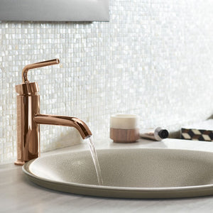 Copper finish fixtures for the Bath by KOHLER