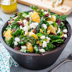 Kale Citrus Salad with Goat Cheese