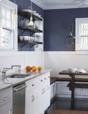 Bold Beadboard Kitchen