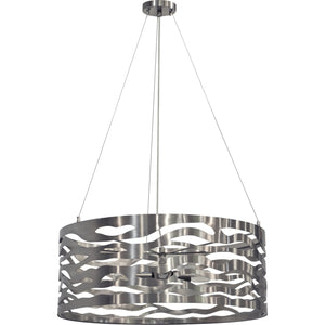 Rogue Brushed Nickel Chandelier
