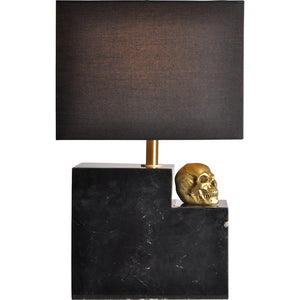 Bastion Black Marble Table Lamp