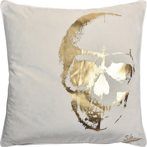 Kelpie Gold Skull Printed Cushion