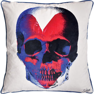 Parapet Skull Printed Toss Cushion