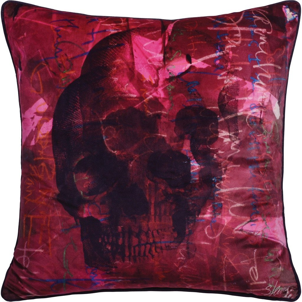 Toned Skull Toss Cushion