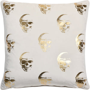 Valor Skull Printed Pillow