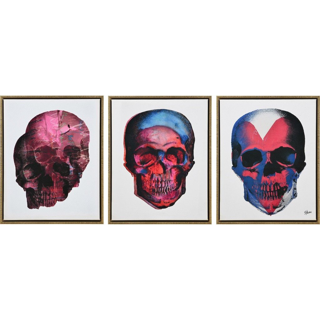 Taboo set of 3 Skull Prints