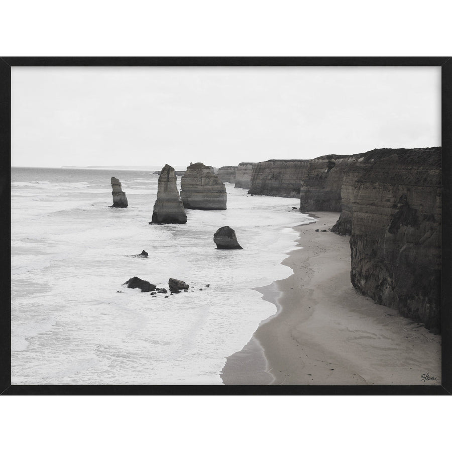 Seascape Glass Framed Print