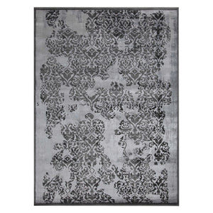 S&C Damask Area Rug - Full Product View