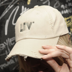 Stone Distressed LIV 'Dad Hat'