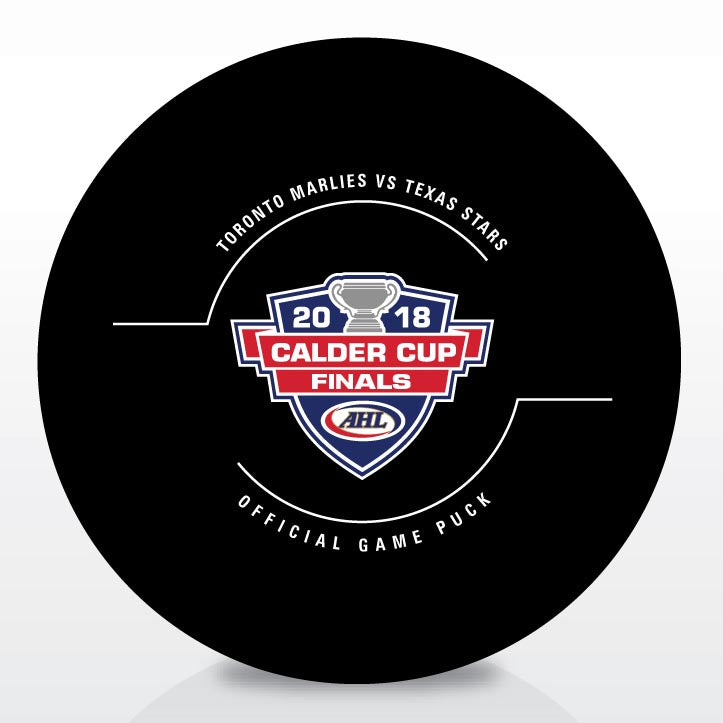 Toronto Marlies vs. Texas Stars 2018 Calder Cup Finals Official Game Puck