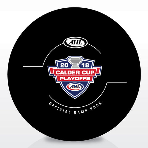 2018 Calder Cup Playoffs Official Game Puck