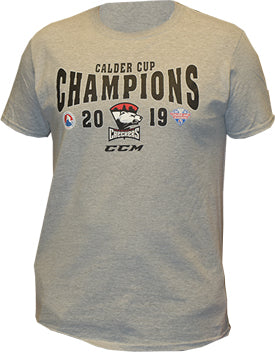 Charlotte Checkers CCM 2019 Calder Cup Champions Locker Room T-Shirt