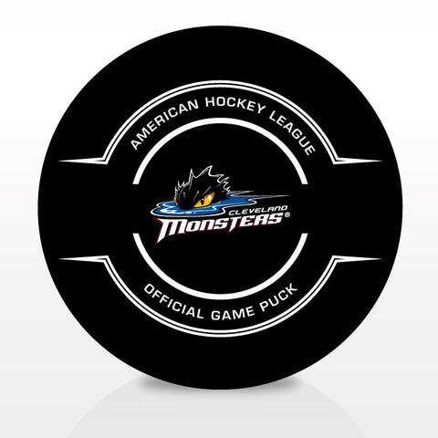 Cleveland Monsters Official Center Ice Game Puck