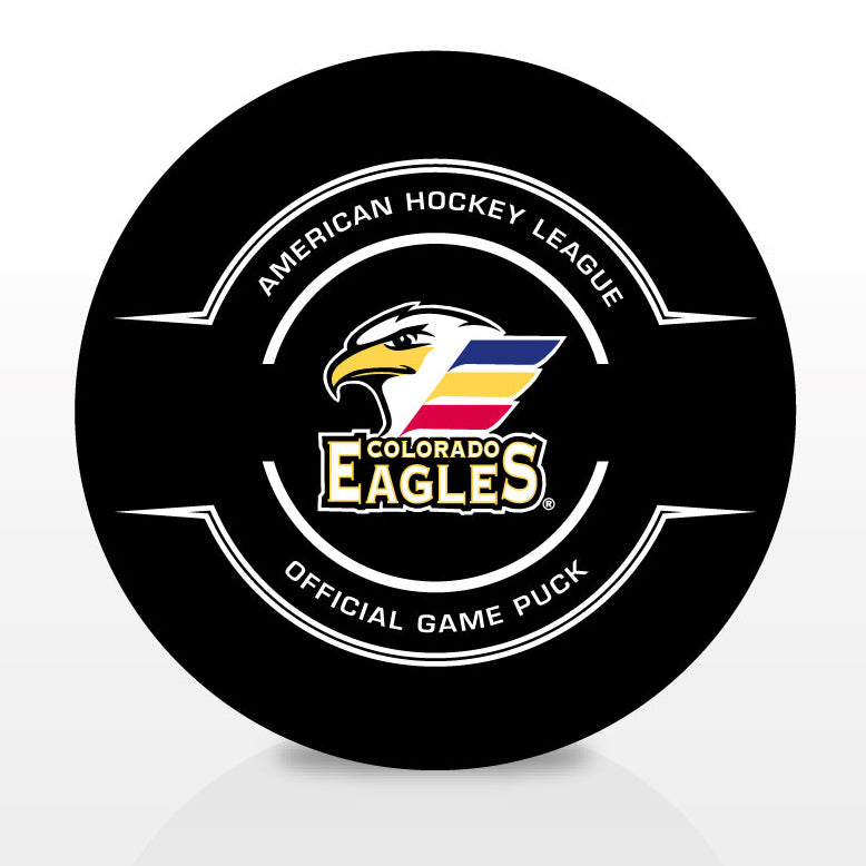 Colorado Eagles Official Center Ice Game Puck