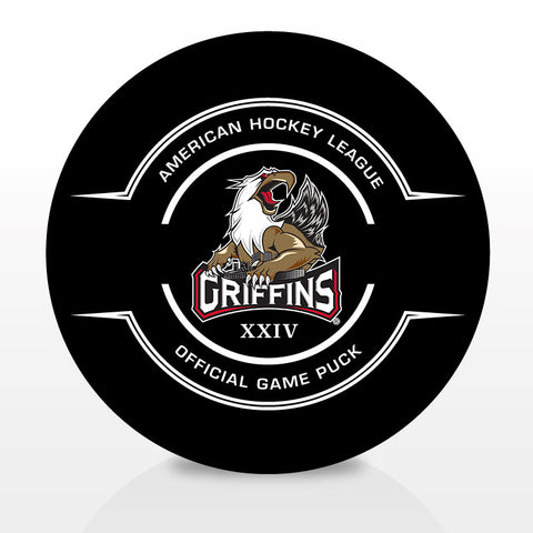Grand Rapids Griffins Official 24th Season Center Ice Game Puck