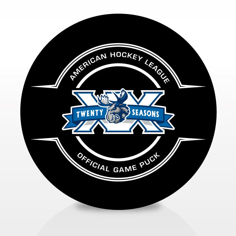 Manitoba Moose 20th Anniversary Official Center Ice Game Puck