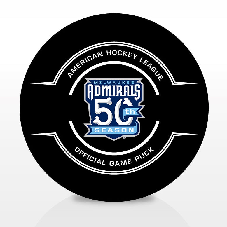 Milwaukee Admirals Official 50th Anniversary Center Ice Game Puck