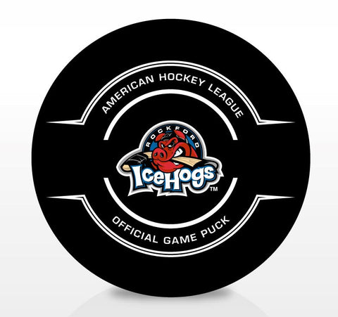 Rockford IceHogs Official Center Ice Game Puck