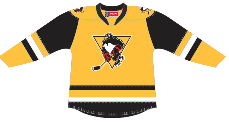 CCM Quicklite Wilkes-Barre/Scranton Penguins Customized Premier Third Jersey