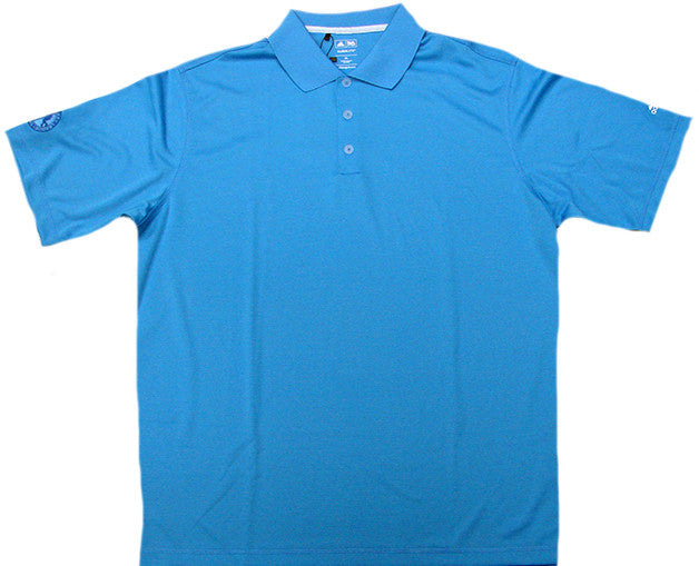 Adidas AHL Textured ClimaLite Polo Shirt (Tropical Blue)