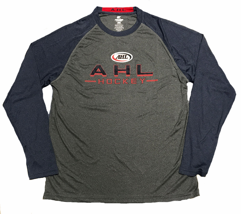 Colosseum AHL Raglan Long Sleeve T-Shirt (Heather Charcoal)