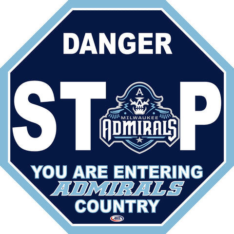 Milwaukee Admirals Fan Stop Sign
