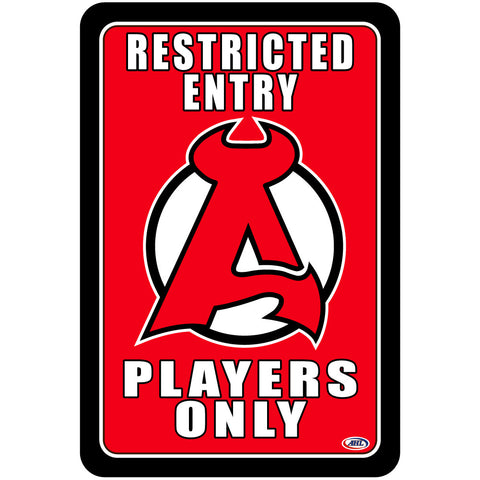 "Albany Devils ""Players Only"" Sign"