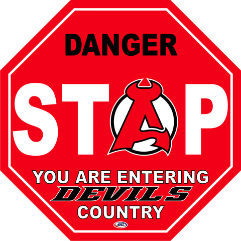 Albany Devils Fan Stop Sign