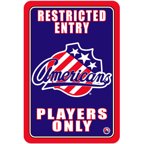 "Rochester Americans ""Players Only"" Sign"