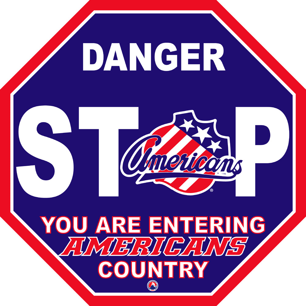 Rochester Americans Fan Stop Sign
