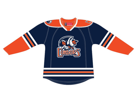 CCM Quicklite Bakersfield Condors Customized Premier Blue Jersey