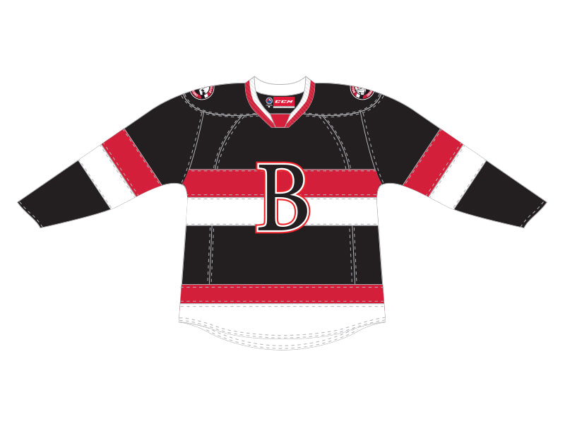 CCM Quicklite Belleville Senators Customized Premier Black Jersey