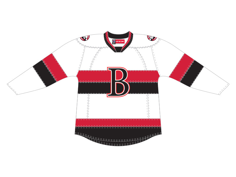 CCM Quicklite Belleville Senators Customized Premier White Jersey