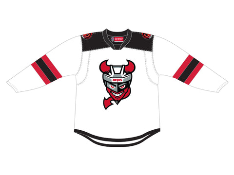 CCM Quicklite Binghamton Devils Customized Premier White Jersey